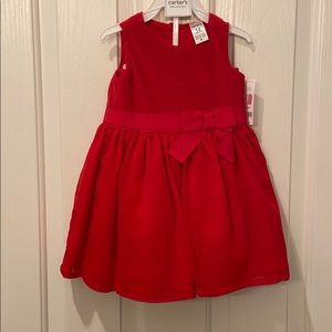 Carter's red holiday dress